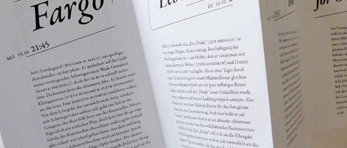 Typografisch schöner Falzflyer